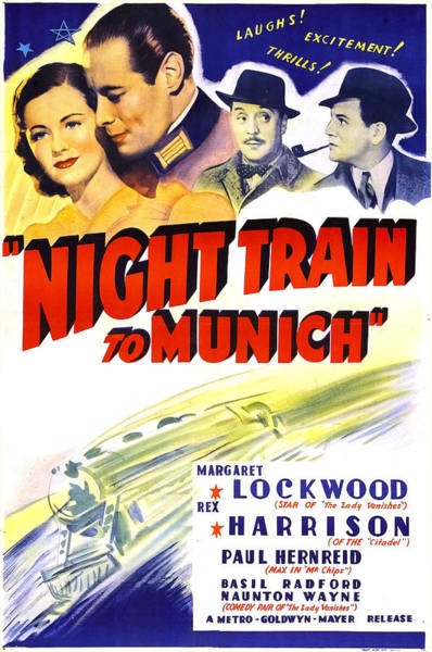 Radford Photograph - Night Train To Munich, Us Poster, Top by Everett