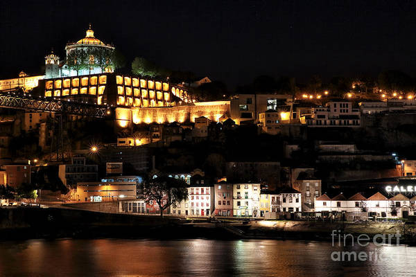 Photograph - Night View From Porto by John Rizzuto