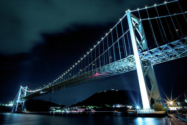 Japanese Culture Photograph - Night View Of The Kanmon-bridge by Photo By Ogizoo