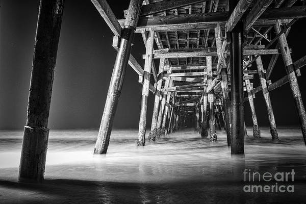 Night View Under San Clemente Pier Art Print