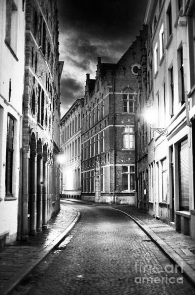 Photograph - Night Walk In Bruges by John Rizzuto