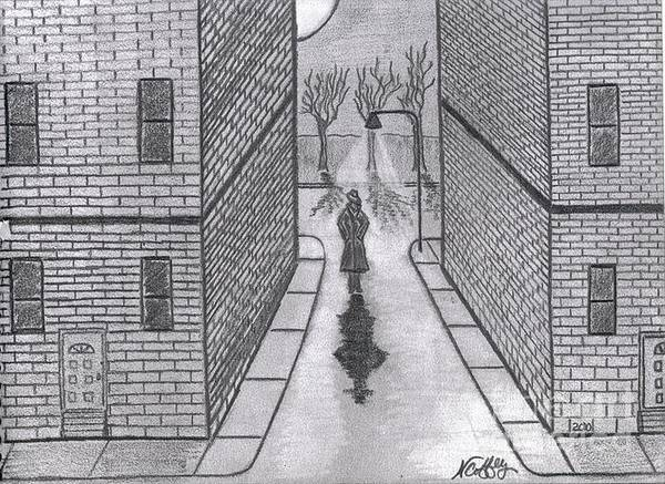 Drawing - Night Walker by Neil Stuart Coffey
