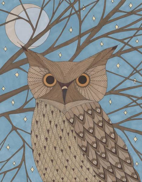 Nocturnal Drawing - Night Watch by Pamela Schiermeyer