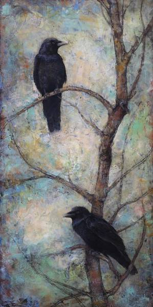 Crow Painting - Night Watch -  Ravens by Lori  McNee