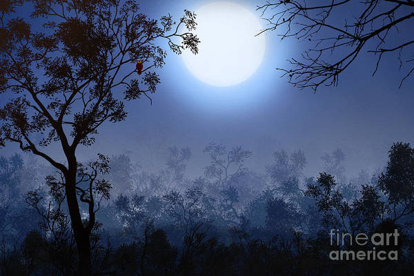 Wall Art - Digital Art - Night Watcher by Peter Awax