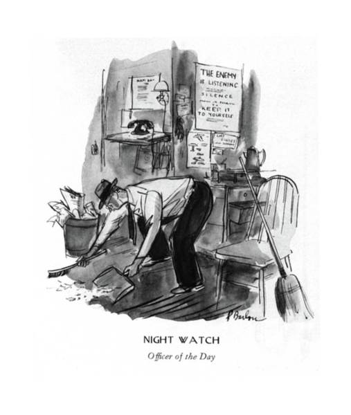 Messy Drawing - Night Watch  Of?cer Of The Day by Perry Barlow