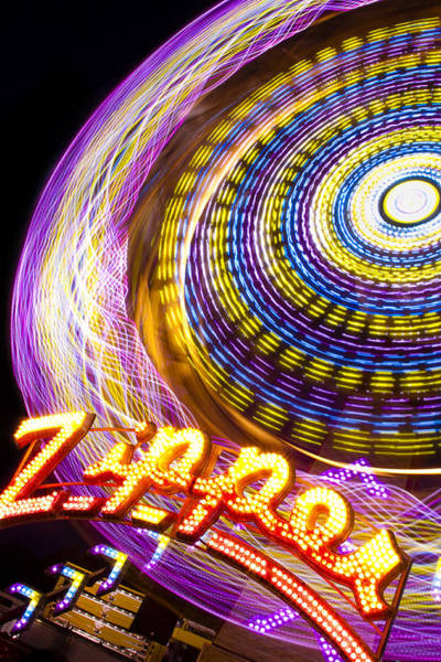 County Fair Photograph - Night Zipper by Caitlyn  Grasso