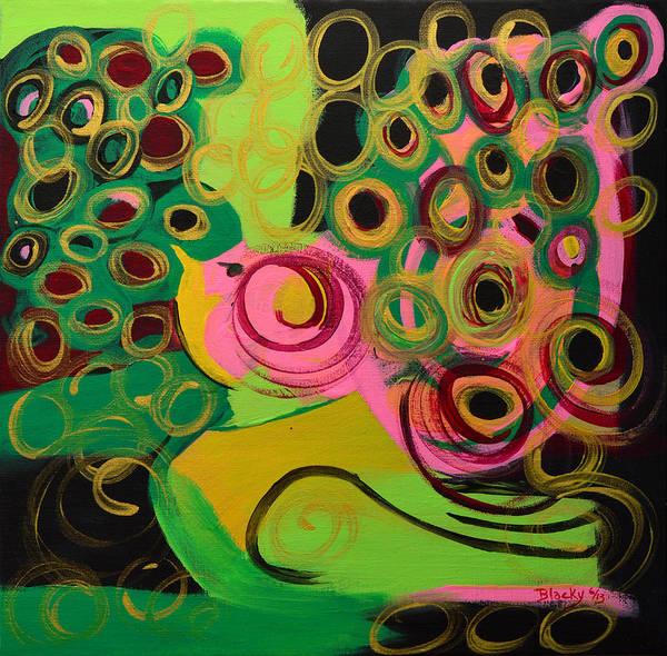 Wall Art - Painting - Nightbird by Donna Blackhall