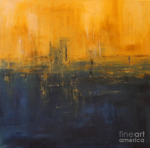 Wall Art - Painting - Nightfall by Christiane Schulze Art And Photography