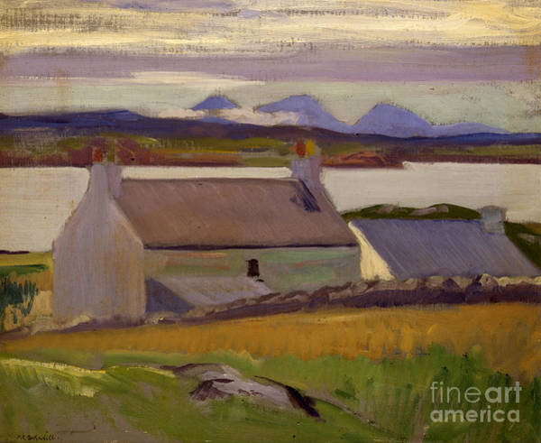 Rocky Coast Painting - Nightfall  Iona by Francis Campbell Boileau Cadell