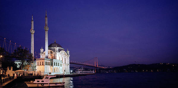 Photograph - Nightfall Over Istanbul by Shaun Higson