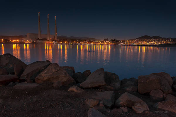 Photograph - Nightime At Morro Bay by Tim Bryan