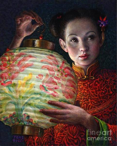 Chinese Girl Wall Art - Painting - Nightingale Girl by Jane Bucci