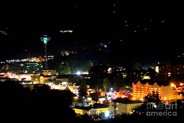 Photograph - Nightlight In Gatlinburg by Cynthia Mask