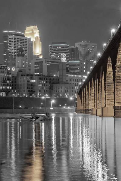 Wall Art - Photograph - Nightlight, Minneapolis Mn Skyline by Near and Far Photography