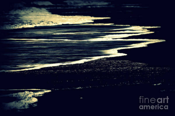 Photograph - Nightly Waves By The Ocean Shore by Susanne Van Hulst