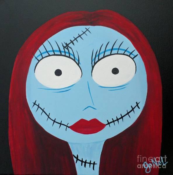 Skellington Painting - Nightmare Babe by JoNeL Art