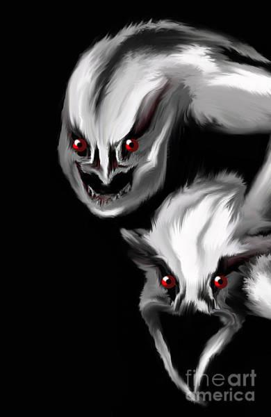 Ghoul Digital Art - Nightmare Companions by Bel Menpes