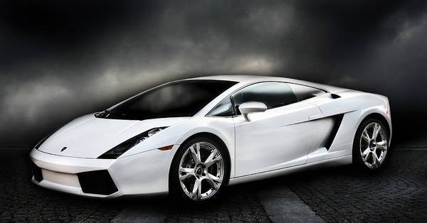 Supercars Digital Art - Nights In White Satin by Peter Chilelli