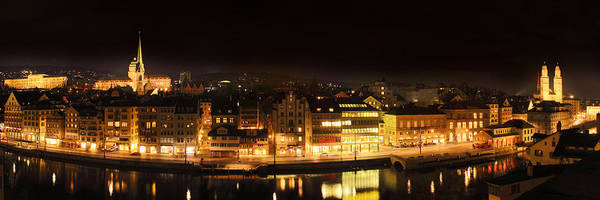 Zuerich Wall Art - Photograph - Nighttime In Zurich by Marc Huebner