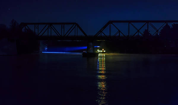 Tug Wall Art - Photograph - Nighttime Tug by Everet Regal