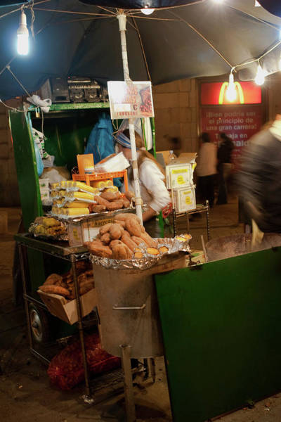 Photograph - Nighttime Vendor by Lorraine Devon Wilke