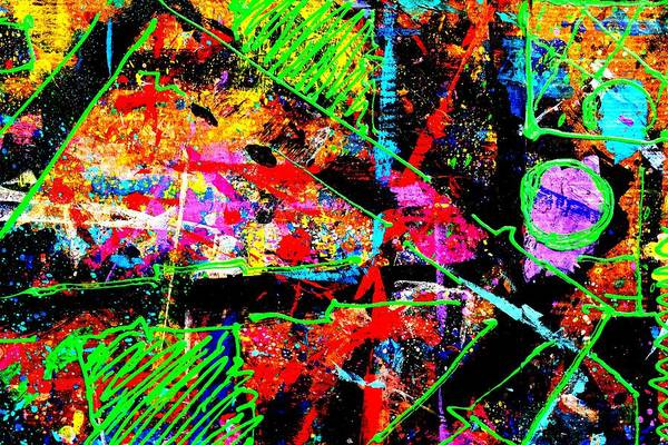 Abstract Expressionism Wall Art - Painting - Nighttown Jazz  I by John  Nolan
