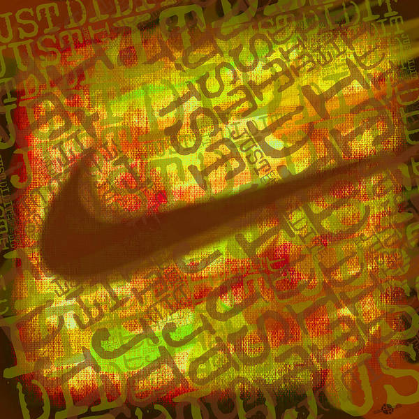 Painting - Nike Just Did It Gold by Tony Rubino