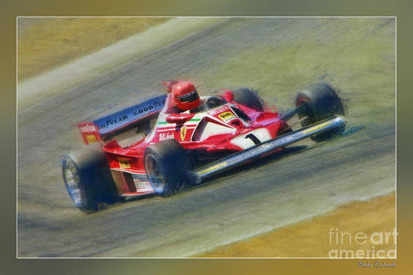 Photograph - Niki Lauda's 1976 Ferrari 312 T2  by Blake Richards