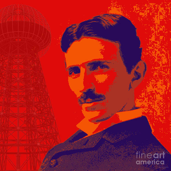 Digital Art - Nikola Tesla #1 by Jean luc Comperat