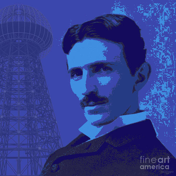 Nikola Tesla #2 Art Print