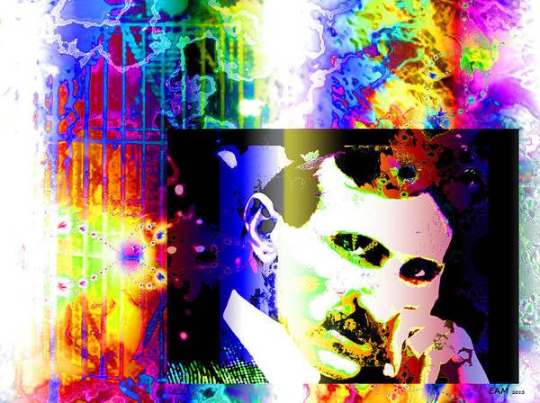 Wall Art - Digital Art - Nikola Tesla  by Elizabeth McTaggart