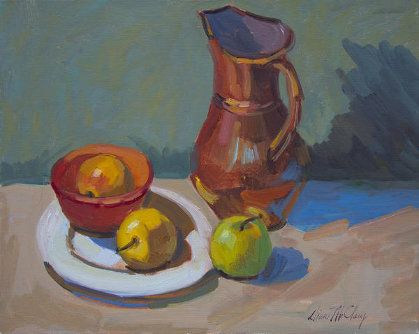 Pitcher Painting - Nila's Copper Pitcher by Diane McClary