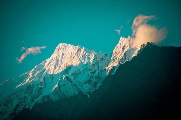 Photograph - Nilgiri Mountain In Himalayas With Cloud by Raimond Klavins