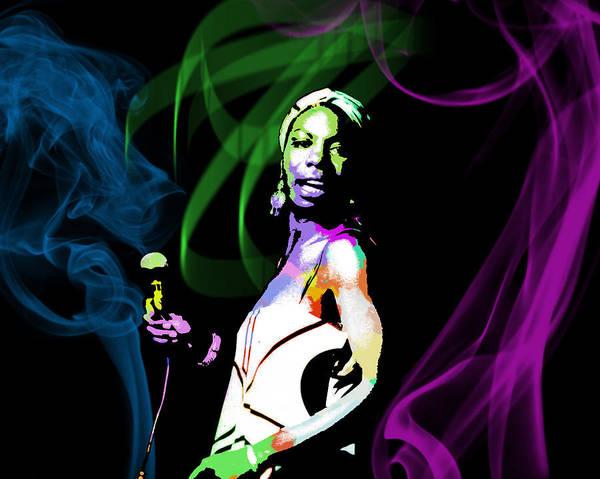 Nina Simone Wall Art - Digital Art - Nina Simone by Michael Jadach