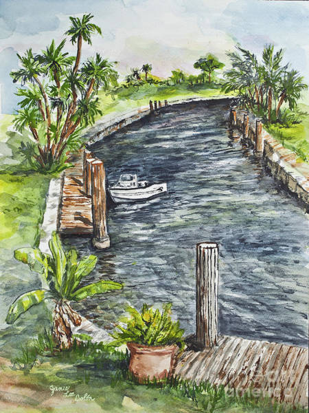 Painting - Ninas Back Yard by Janis Lee Colon