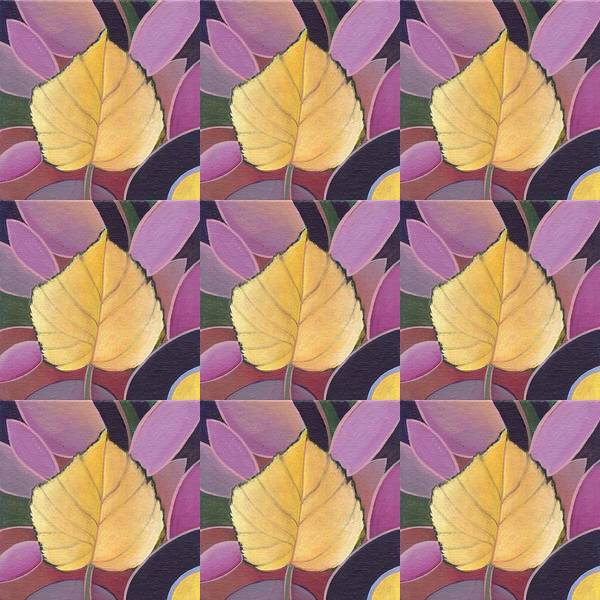 Painting - Nine Golden Leaves by Helena Tiainen