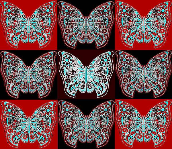 Digital Art - Nine Lives - Variation 1 by Helena Tiainen