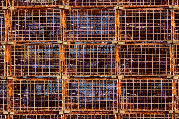 Photograph - Nine Orange Lobster Traps by Stuart Litoff