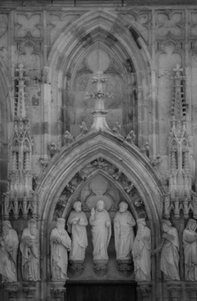 Glockenspiel Photograph - Nine Worthies Bw Cologne Germany by Teresa Mucha