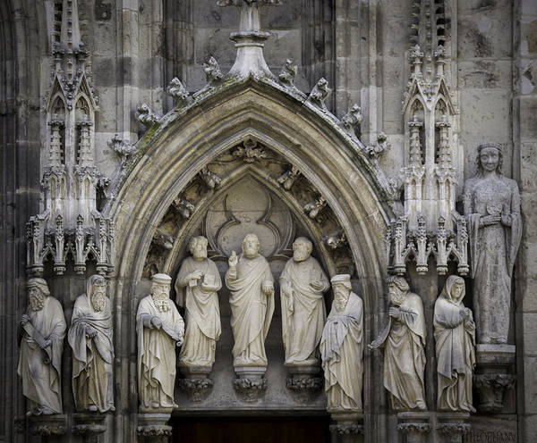 Glockenspiel Photograph - Nine Worthies Cologne Germany by Teresa Mucha