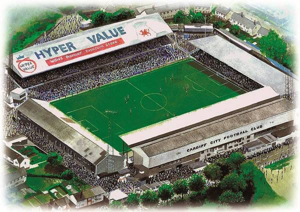 Wall Art - Painting - Ninian Park - Cardiff City by Kevin Fletcher