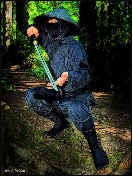 Painting - Ninja At The Ready by Jon Volden