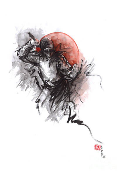 Wall Art - Painting - Ninja - Martial Arts Styles Painting by Mariusz Szmerdt
