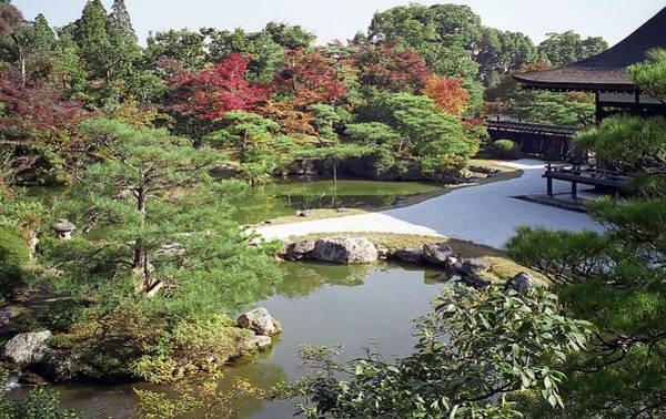 Kansai Wall Art - Photograph - Ninna-ji Temple Garden And Pond - Kyoto Japan by Daniel Hagerman