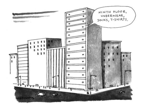 1993 Drawing - 'ninth Floor by Mick Stevens