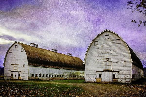 Photograph - Nisqually Barns 2 by Barry Jones