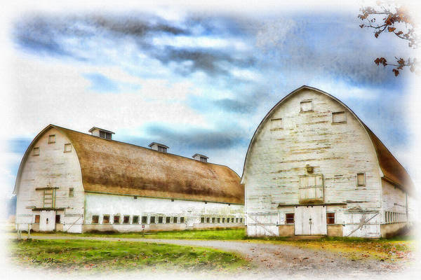 Photograph - Farm - Barn - Nisqually Barns - 3 by Barry Jones
