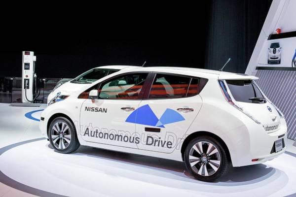 Detroit Auto Show Photograph - Nissan Autonomous Drive Vehicle by Jim West
