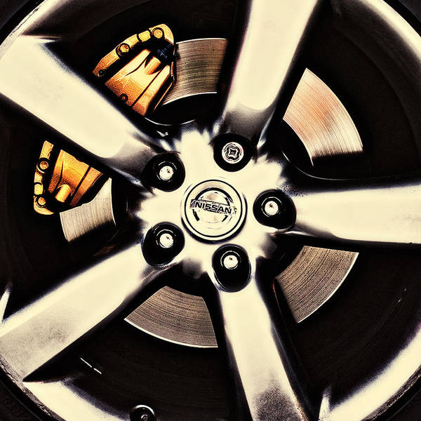 Photograph - Nissan Zx Wheels 2 by Meirion Matthias